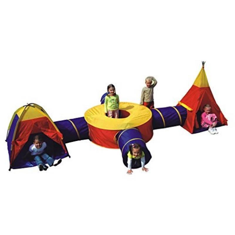 Tente de jeu géante d'aventures en 3 parties, avec tunnel de la marque boppi TOP 5 image 0 produit