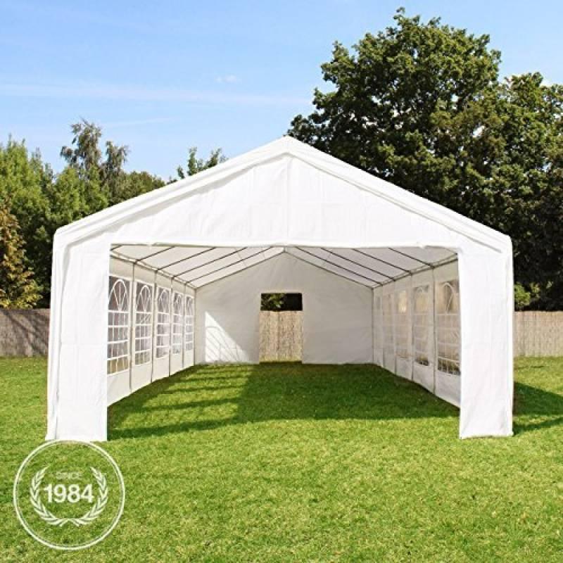 Tente de réception 5x10 m, toile de haute qualité 240g/m² PE blanc construction en acier galvanisé avec raccordement par vissage de la marque INTENT24 TOP 1 image 0 produit