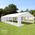 Tente de réception 5x10 m, toile de haute qualité 240g/m² PE blanc construction en acier galvanisé avec raccordement par vissage de la marque INTENT24 TOP 1 image 1 produit
