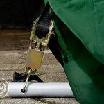 Abri / Tente garage PREMIUM 3,66 x 6,2 m pour voiture et bateau - toile PVC 500 g/m² imperméable / protection contre les rayons UV (80+) / structure robuste en TOP 3 image 2 produit