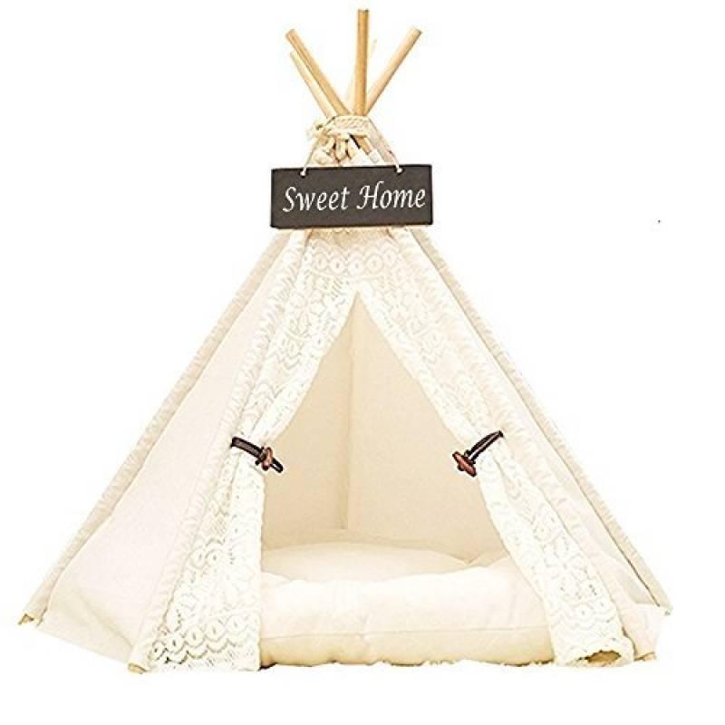 Dewel Maison et Tente pour le Chien Pet Home Amovible et Lavable Dentelle Blanc de la marque Dewel TOP 1 image 0 produit