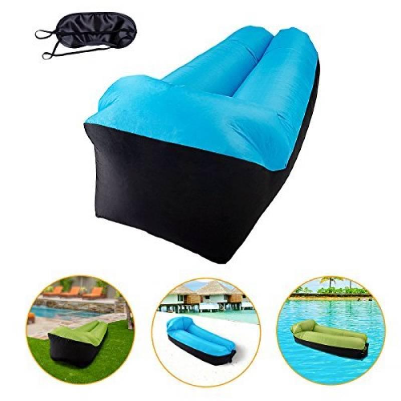 Inflatable sofa, Air Sofa, KeepSa Sofa Gonflable avec Oreiller Intégré Et Eyehade, Canapé Gonflable Extérieur, Chaise Longue Gonflable pour la Natation, le Camp TOP 6 image 0 produit