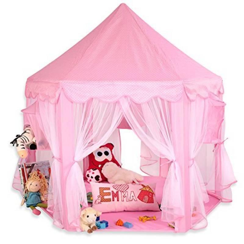 KIDUKU® Tente de jeu pour enfants Château de Princesse Tente de jeu Maison de Jouet Château de Princesse de fées, 3 couleurs au choix de la marque KIDUKU TOP 7 image 0 produit