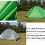 Luxe Tempo 2 Personnes 2 Places Tente Tapis Inclus Ultralégère de Randonnée Camping 3 et 4 Saisons avec 2 Absides 2 Portes 1800g Robuste Hautment Imperméable Bi TOP 6 image 1 produit