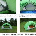 Luxe Tempo 2 Personnes 2 Places Tente Tapis Inclus Ultralégère de Randonnée Camping 3 et 4 Saisons avec 2 Absides 2 Portes 1800g Robuste Hautment Imperméable Bi TOP 6 image 2 produit