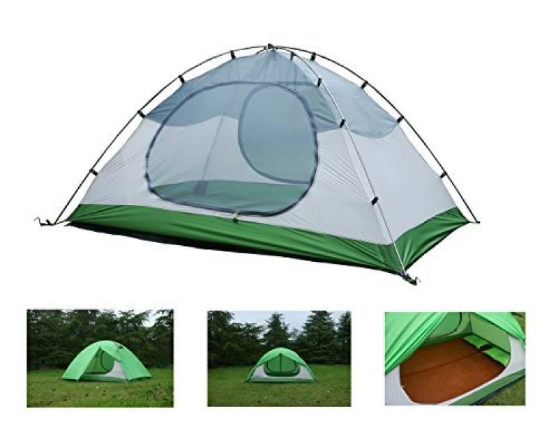 Luxe Tempo 2 Personnes 2 Places Tente Tapis Inclus Ultralégère de Randonnée Camping 3 et 4 Saisons avec 2 Absides 2 Portes 1800g Robuste Hautment Imperméable Bi TOP 6 image 0 produit