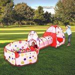 MAIKEHIGH Tente Pop Up Tunnel des enfants Maison de Jouet et Piscine -3piècesIndoor / Outdoor, BOULES NON INCLUS de la marque MAIKEHIGH TOP 5 image 0 produit