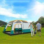 MIAO Chambre extérieure de deux chambres 8-10 personnes Grande tente de camping de luxe de la marque MIAO TOP 10 image 1 produit