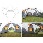 MIAO Tentes de camping de luxe, extérieures surdimensionnées Trois salons et un salon de la marque MIAO TOP 5 image 2 produit