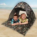 Niceao PopUp Tente Abri de plage Portable Tente de camping rapide Jusqu'à de pêche Tente de protection anti UV Tente de plage Abri Soleil de la marque NICE TOP 7 image 0 produit