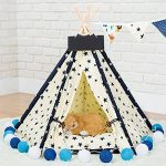 Pet Tente indien Tipi Tipi en toile pour chiens chats Chiot Kitty Lapins de la marque Quemu TOP 5 image 1 produit