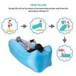 Sainlogic Airbag gonflable imperméable à l'eau, Airbag Airbag avec sac de transport, pour dormir à l'extérieur, à l'intérieur, pour l'inclinaiso TOP 11 image 1 produit