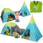 Tente de jeu pour enfants | Incl. 200 balles multicolores | léger à transporter | Idéal pour l´intérieur et l´extérieur | Incl. pratique étui pour le garder / t TOP 8 image 0 produit