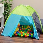 Tente de jeu pour enfants | Incl. 200 balles multicolores | léger à transporter | Idéal pour l´intérieur et l´extérieur | Incl. pratique étui pour le garder / t TOP 8 image 2 produit