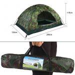 Tente Dôme Camouflage Etanche 2 Personnes Tente de Camping Bivouac Imperméable Anti UV Léger pour Randonnée Plage Camping Extérieur de la marque VGEBY TOP 13 image 1 produit