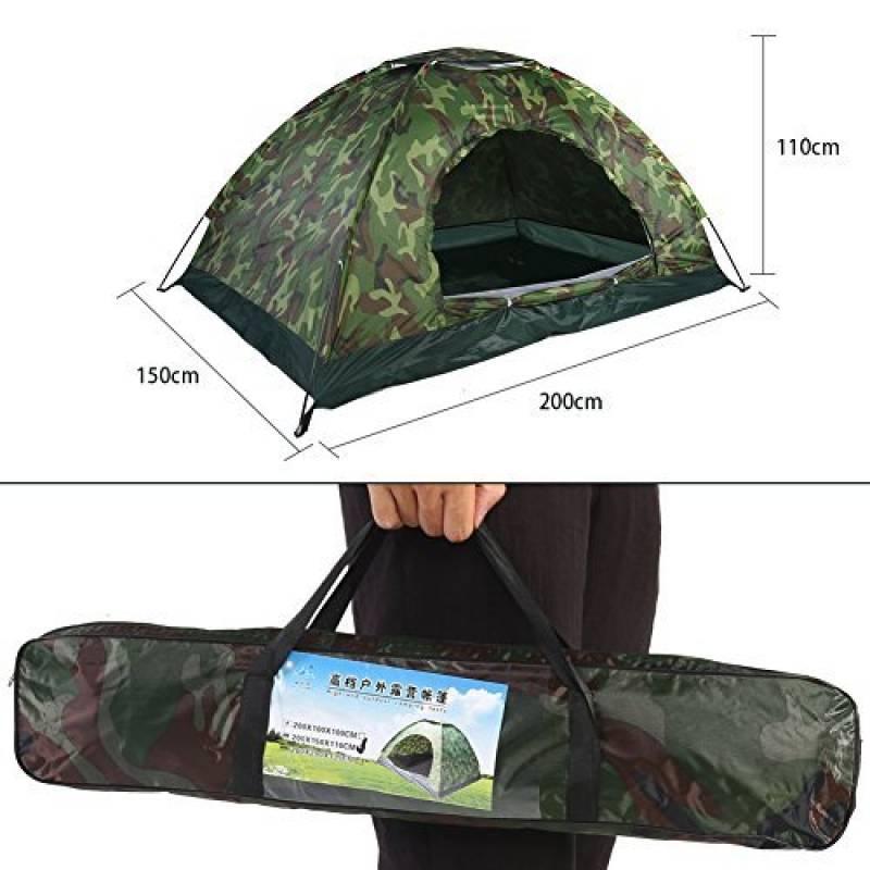 Lixada Tente de Camouflage Portable /à Une Seule Couche pour Plage//Voyage//Camping