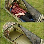 Tente Légère Bivvy de Camping Trekking Randonnée Ultralégère Imperméable - 230 x 75 x 60 H cm (1,25kg) - 1 Personne – Installation Facile et Rapide de la marque TOP 4 image 2 produit