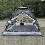 TOMSHOO Tente de camping portable Imperméable pour 2 personne seule couche de camouflage pour Pour Camping jardin Randonnée de la marque TOMSHOO TOP 3 image 1 produit