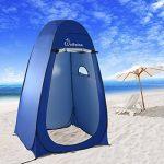 WolfWise Tente de Douche Toilette Cabinet de Changement Tente Instantanée Portable Camping Abri de Plein Air Vestiaire Amovible Extérieure Intérieure - Bleu de TOP 11 image 2 produit