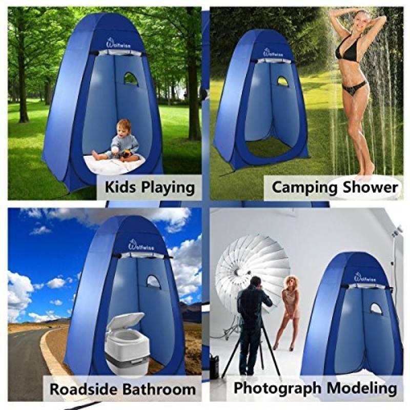 WolfWise Tente de Douche Toilette Cabinet de Changement Tente Instantanée Portable Camping Abri de Plein Air Vestiaire Amovible Extérieure Intérieure - Bleu de TOP 11 image 0 produit