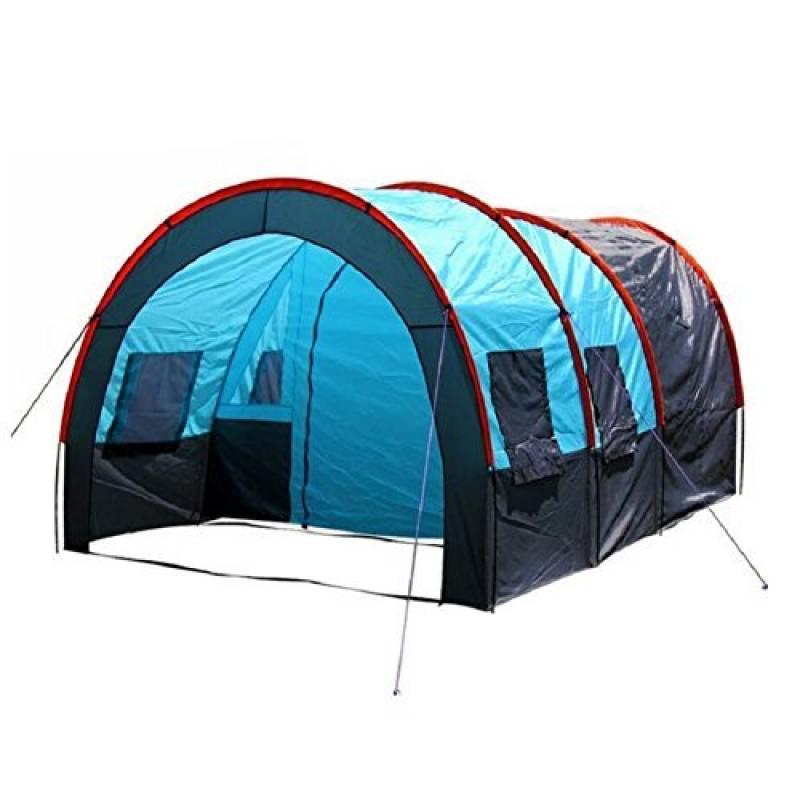 ZC&J Tentes de camping 5-8 personnes en plein air, tentes doubles tentes de réunion étanches, salle de deux pièces, barres de fibres de verre solides et durable TOP 11 image 0 produit