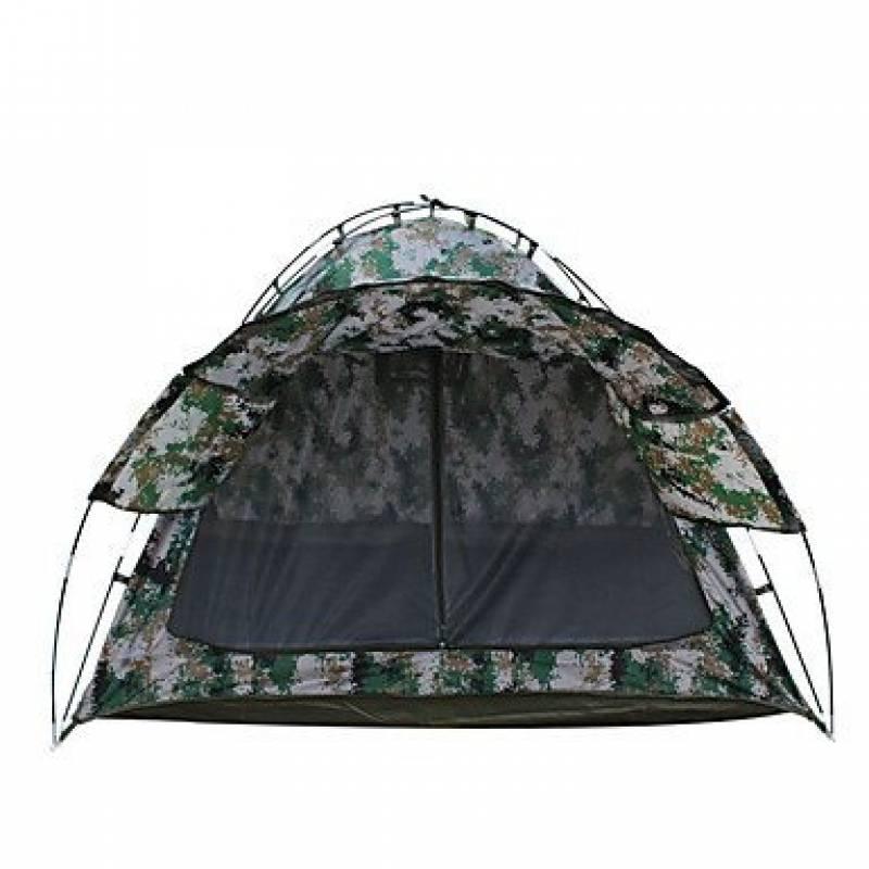 FFZH 2 personnes Tente Double Tente pliable Une pièce Tente de camping 2000-3000 mm Fibre de verre Oxford Etanche Portable-Randonnée Camping- de la marque FFZH- TOP 5 image 0 produit