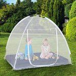 IDMarket - Moustiquaire dôme pop up 190 x 125 cm mobile pour lit de la marque IDMarket TOP 6 image 0 produit