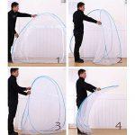Moustiquaires en plein air Mongol Yurt Dôme Net Installation gratuite et pliage de filets Prévenir insectes Pop Up Tente Rideaux pour les lits Chambre de la mar TOP 1 image 2 produit