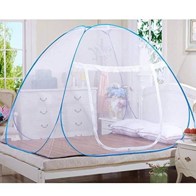 Moustiquaires en plein air Mongol Yurt Dôme Net Installation gratuite et pliage de filets Prévenir insectes Pop Up Tente Rideaux pour les lits Chambre de la mar TOP 1 image 0 produit