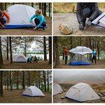 NatureHike PARO léger double couche 3saisons Tente Aluminium Bâtons 1–2personne Tente imperméable avec tapis de sol pour le camping randonnée alpinisme de la TOP 7 image 2 produit