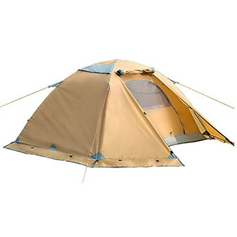 poteau en aluminium couchette double tente extérieure tente de camping pluie et neige quatre saisons avec jupe pare-neige tente d'alpinisme couple de campin TOP 1 image 0 produit