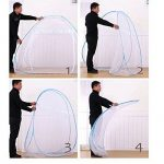 Rechel Moustiquaire en forme de dôme à installation facile, filet pliable, évite les insectes - Tente pop up pour lits / Chambre à coucher (80 x 190cm), blanc, TOP 8 image 3 produit