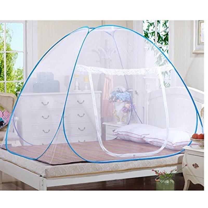 Rechel Moustiquaire en forme de dôme à installation facile, filet pliable, évite les insectes - Tente pop up pour lits / Chambre à coucher (80 x 190cm), blanc, TOP 8 image 0 produit