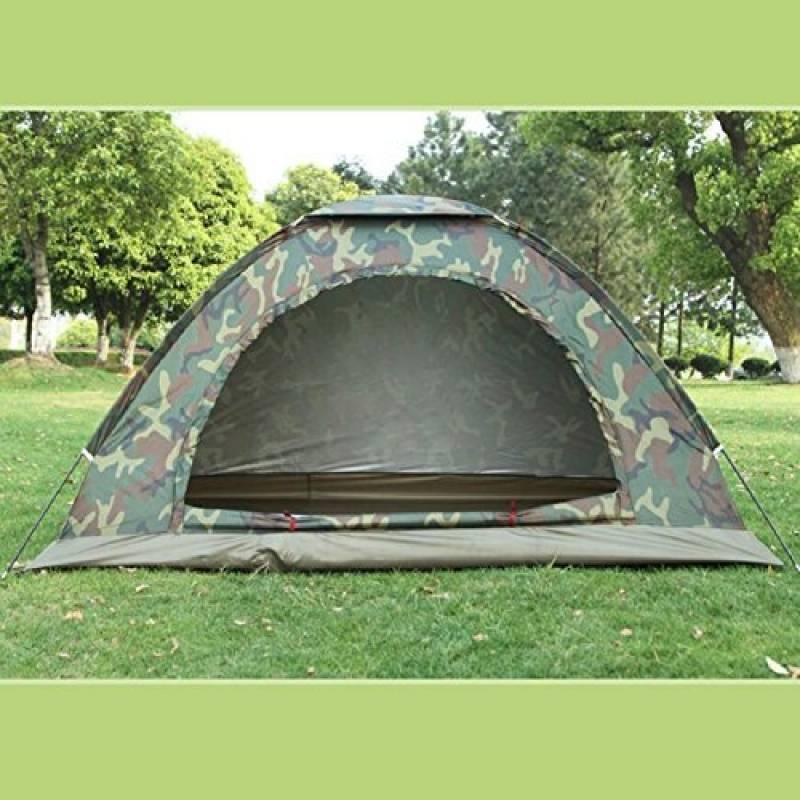 ZC&J Tentes de camouflage de couple en plein air, camping simple, camping, tentes d'alpinisme, fil net anti-moustique, solides et durables, tentes de haute TOP 3 image 0 produit
