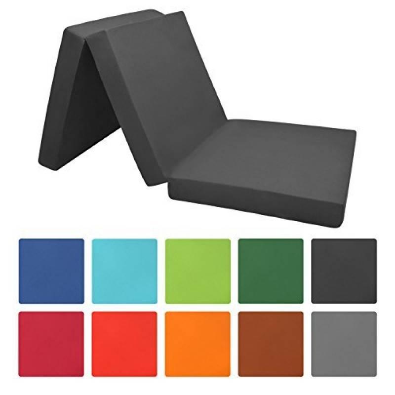 Beautissu Matelas pliant d'appoint Campix - Pouf pliable - 60 x 190 cm - Confortable lit d'invité - Futon - Noir de la marque Beautissu TOP 6 image 0 produit