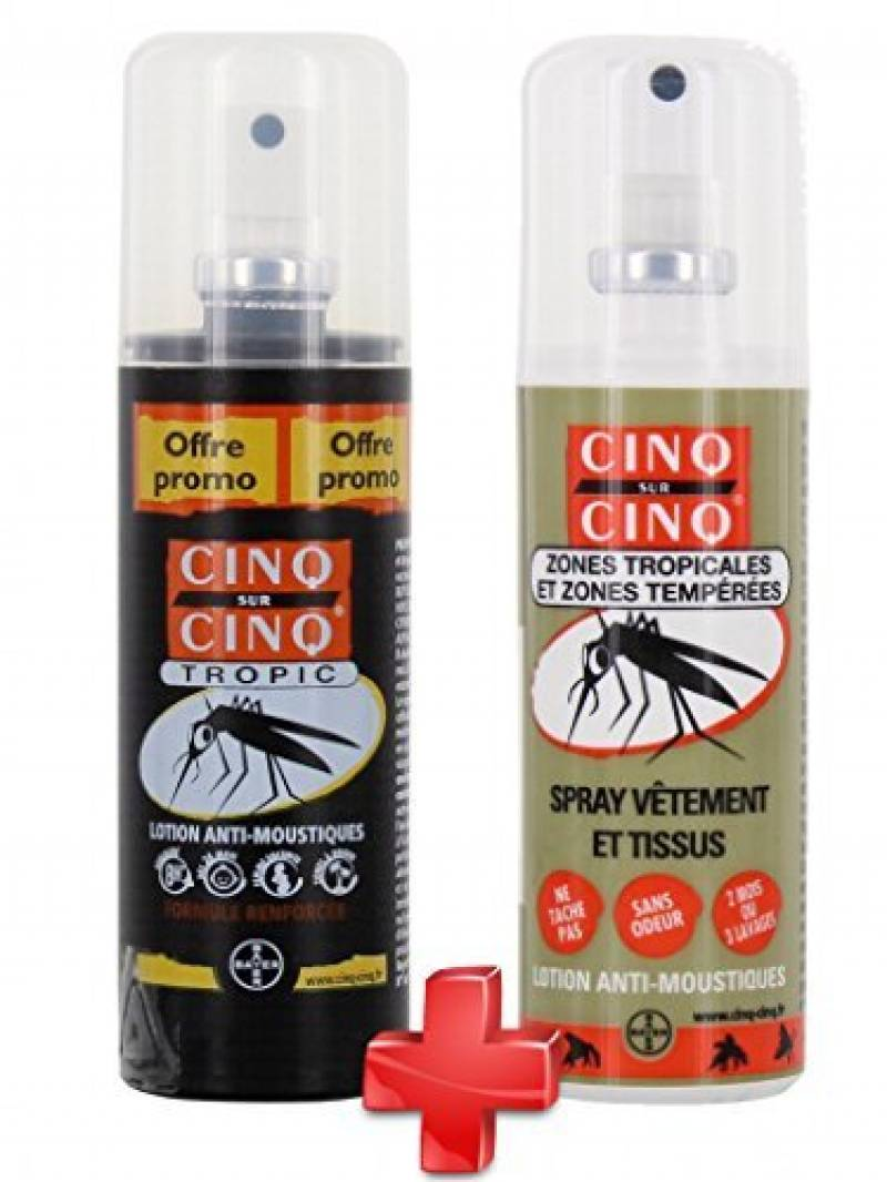 Cinq sur Cinq - Kit Haute protection contre les Moustiques Spray Tropic 100 ml + Spray Vètement 100 ml de la marque Cinq sur Cinq TOP 8 image 0 produit