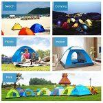 LIVEHITOP Pop Up Tente Ouverture Automatique 3-4 Personnes, Grande Instantanées Tentes Anti UV 4 Places de Camping Plage Randonnée Familiale Exterieur, avec Mou TOP 4 image 1 produit