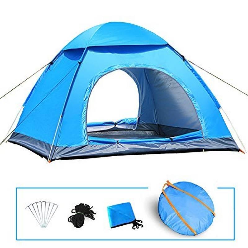 LIVEHITOP Pop Up Tente Ouverture Automatique 3-4 Personnes, Grande Instantanées Tentes Anti UV 4 Places de Camping Plage Randonnée Familiale Exterieur, avec Mou TOP 4 image 0 produit