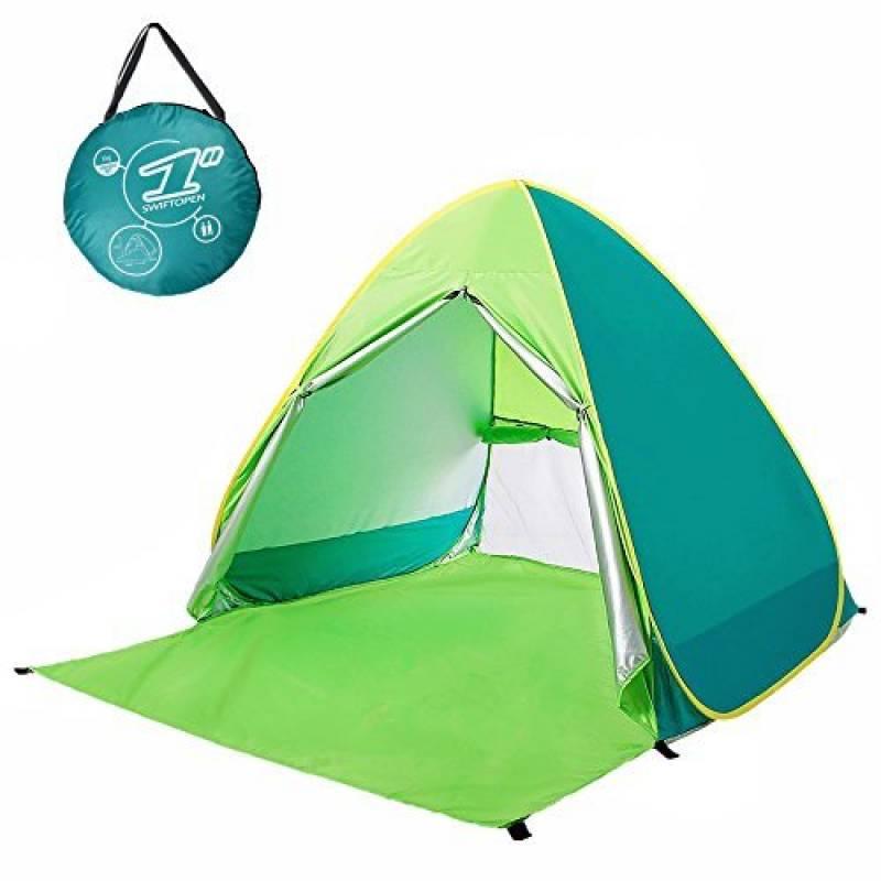 MONOJOY Tente Abris de plage Abri Soleil Rideau avec fermeture Éclair protection UV léger pour plage Jardin Parc Pêche Portable Tente pour enfants bébé garçon ( TOP 9 image 0 produit
