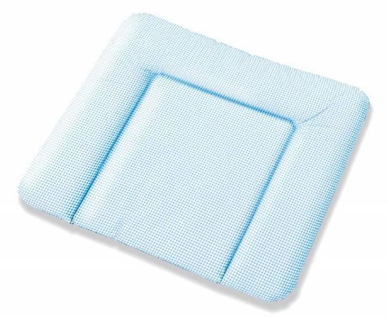Pinolino matelas à langer 71389-2, hygiénique et confortable, coutures soudées, matelassage très épais, PVC sans phtalate, imperméable, vichy blanc et bleu, dim TOP 1 image 0 produit