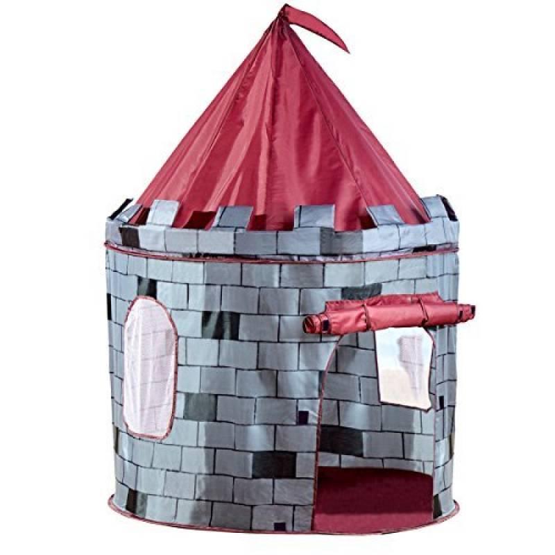 Tente de jeu ronde pour enfants - ext./int. - château de chevalier/château de princesse de la marque Charles Bentley TOP 13 image 0 produit