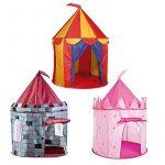 Tente de jeu ronde pour enfants - ext./int. - château de chevalier/château de princesse de la marque Charles Bentley TOP 13 image 1 produit