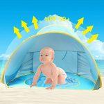 Tente de Plage Anti UV pour Bébé Enfant,Oummit Abri de Plage Pop-up Tente Pliable et Portable avec Protection du Soleil Parfait Pour Faire du Camping,Voyage sur TOP 6 image 0 produit