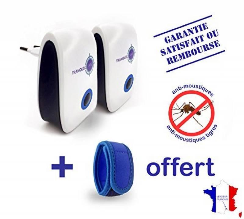 TRANQUILISAFE® - Lot de 2 répulsifs ultrason anti moustiques et moustiques tigres + un bracelet aux huiles essentielles OFFERT - PROTECTION ECOLOGIQUE ET NATURE TOP 3 image 0 produit
