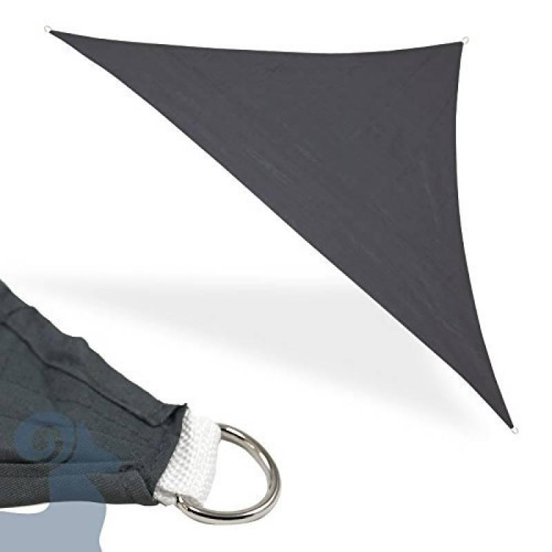Voile solaire triangle 3,6x 3,6x 3,6m gris soleil Pare-vue Protection Pluie Protection Vent uvschutz Distributeur de Ombre Ombre voile ombrage Voile Tente de TOP 3 image 0 produit