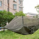 Warmword Camping Hamac 2personnes avec moustiquaire Tente Portable haute résistance Parachute Tissu Lit de voyage pour extérieur Trave (Vert armée) de la marqu TOP 3 image 1 produit
