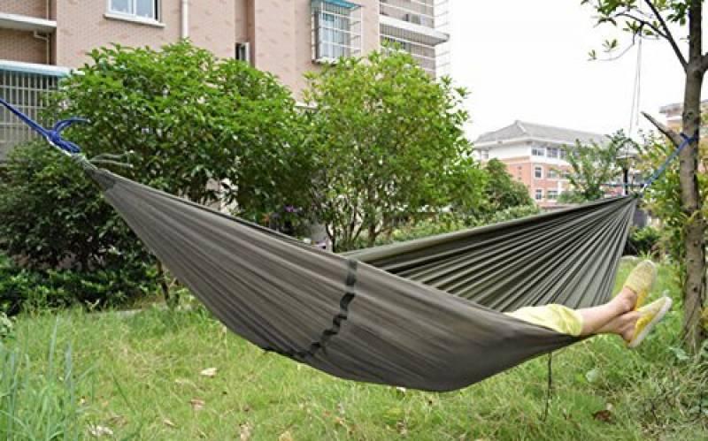 Warmword Camping Hamac 2personnes avec moustiquaire Tente Portable haute résistance Parachute Tissu Lit de voyage pour extérieur Trave (Vert armée) de la marqu TOP 3 image 0 produit