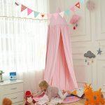 Yosoo Princesse dôme enfants Canopy Lit–Facile à suspendre–Coton enfants pièce Rideaux Tente de jeu bébé Moustiquaire pour intérieur ou extérieur jouer lect TOP 2 image 0 produit